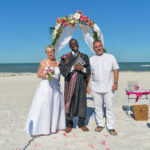 Officiant service Clearwater Beach for Sandra and Holger's vow renewal.
